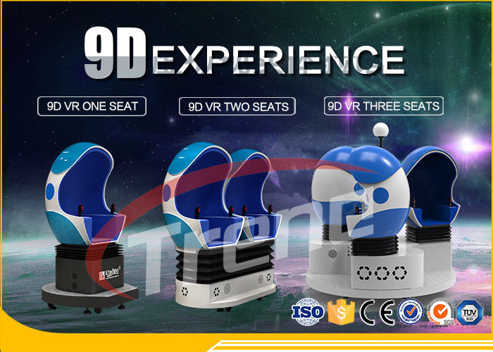 Fashion Cool 360 Degree Supermarket 9D Cinema Ride Blue Seats With Wind Effect