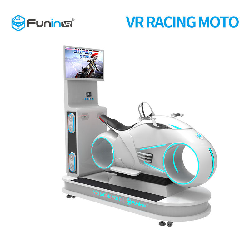 220Volt Indoor Racing Games Motorcycle 1 player Car Driving VR Simulator  0.7KW For Shopping Center
