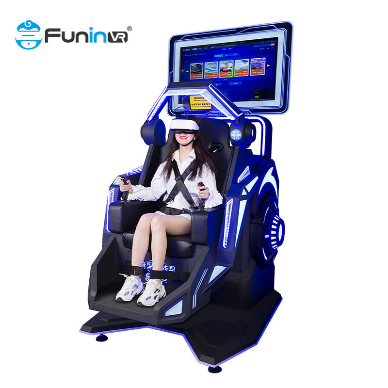 single seat  vr racing chair Amusement 360 Degree 9D Virtual Reality Simulator