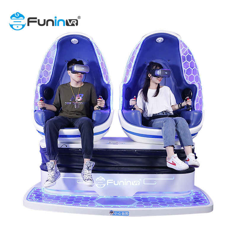 2 Seats Electric Cylinder 1.2KW 9D VR Simulator